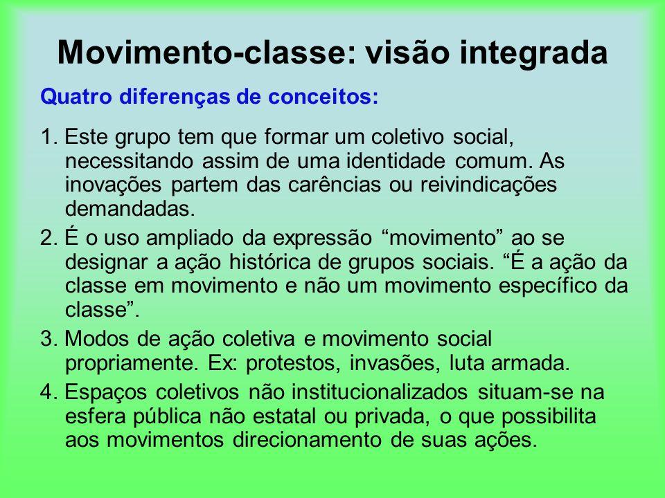 Movimento-classe: visão integrada