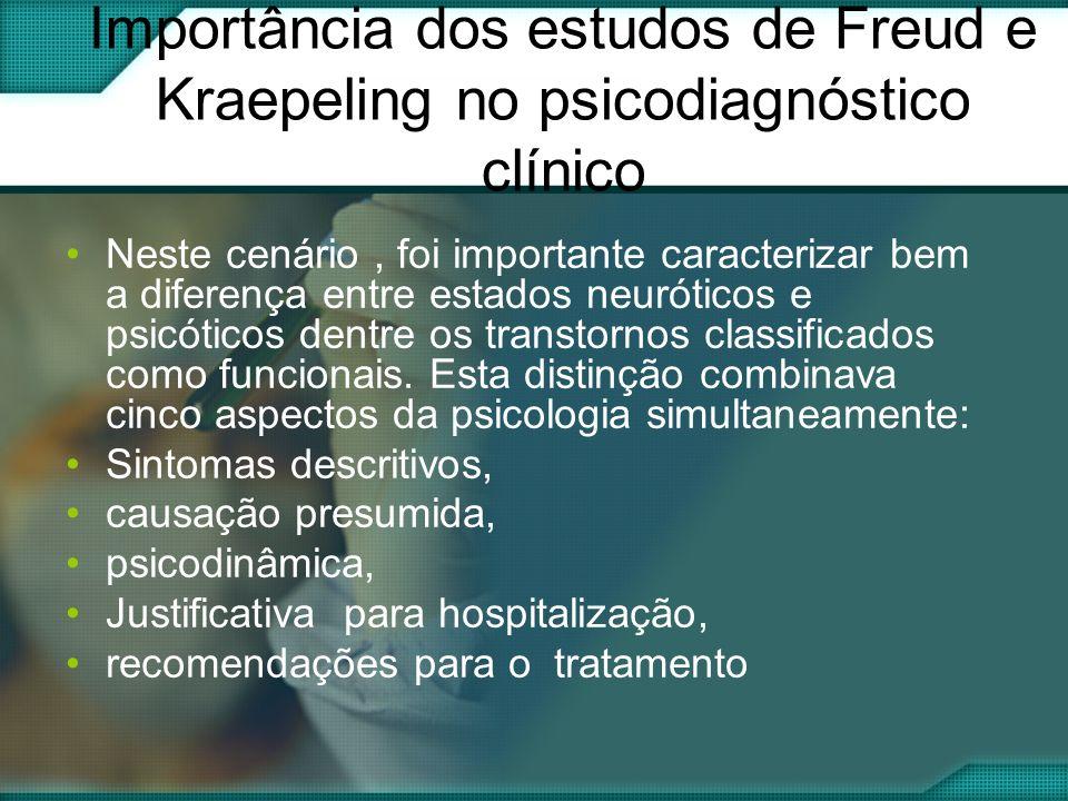 Importância dos estudos de Freud e Kraepeling no psicodiagnóstico clínico
