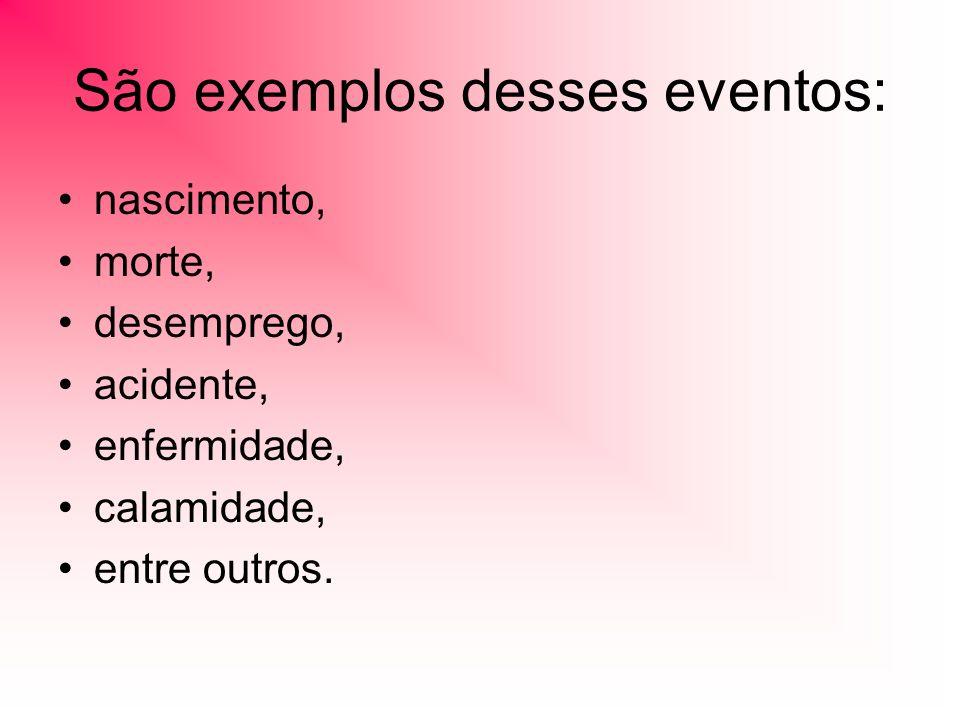 São exemplos desses eventos: