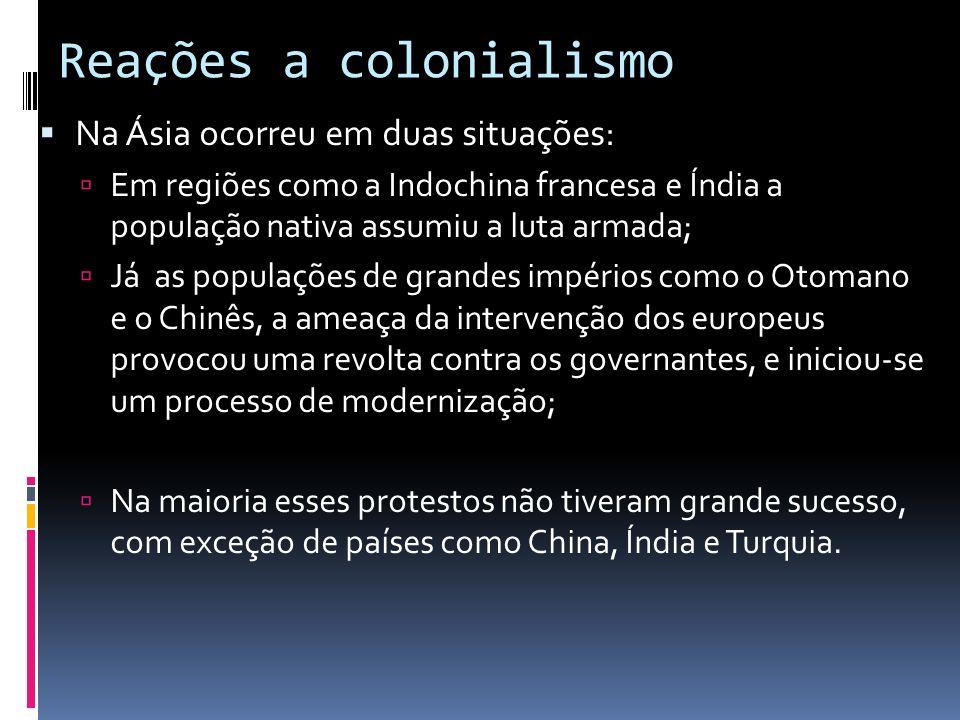 Reações a colonialismo