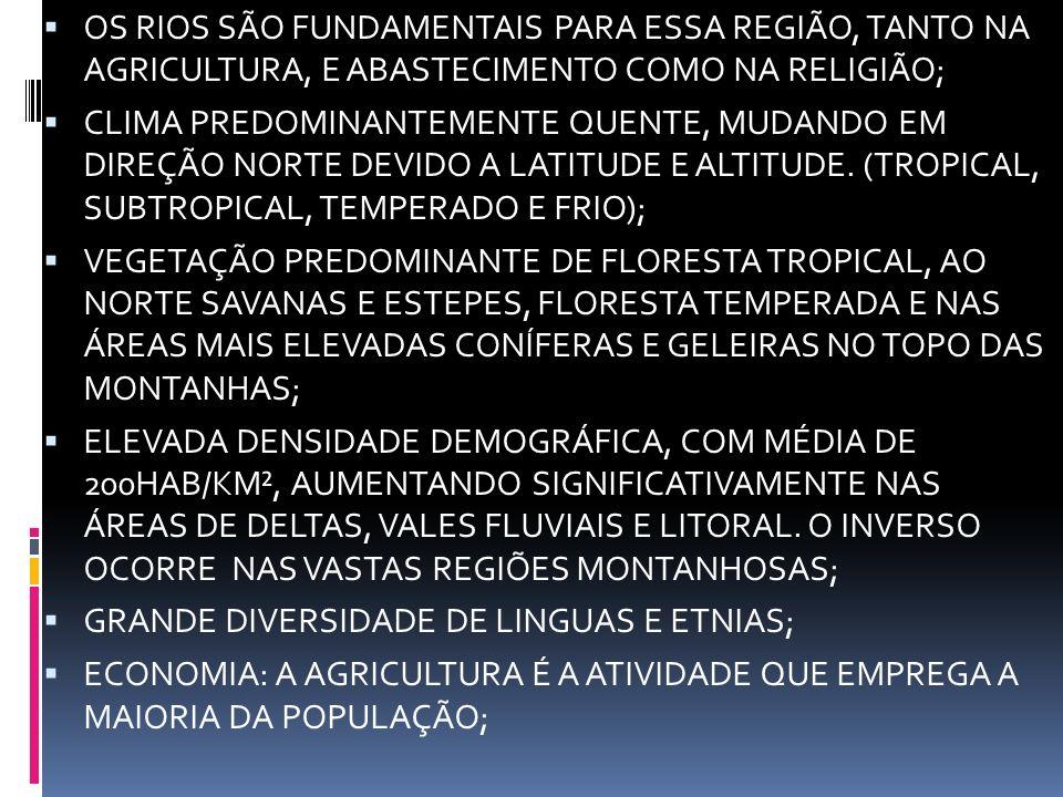 OS RIOS SÃO FUNDAMENTAIS PARA ESSA REGIÃO, TANTO NA AGRICULTURA, E ABASTECIMENTO COMO NA RELIGIÃO;