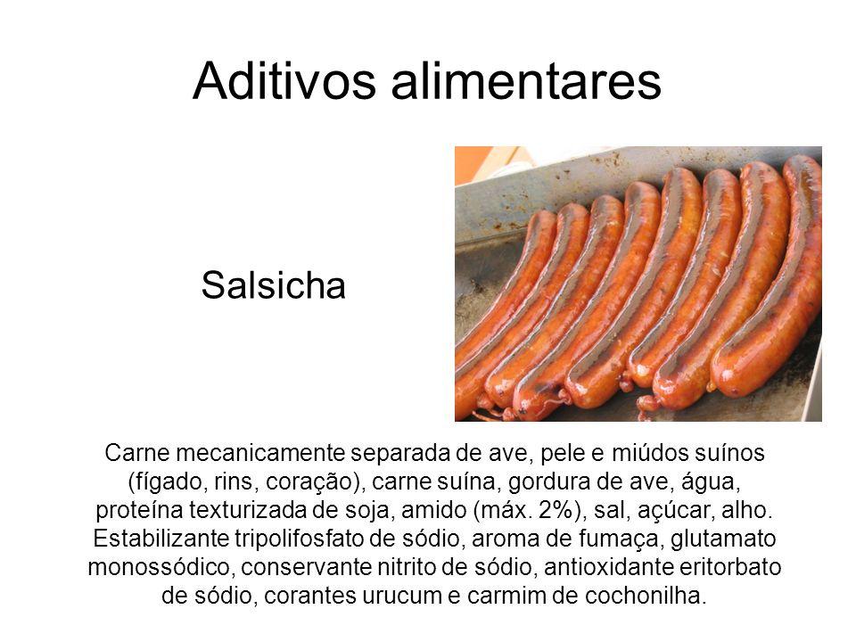 Aditivos alimentares Salsicha
