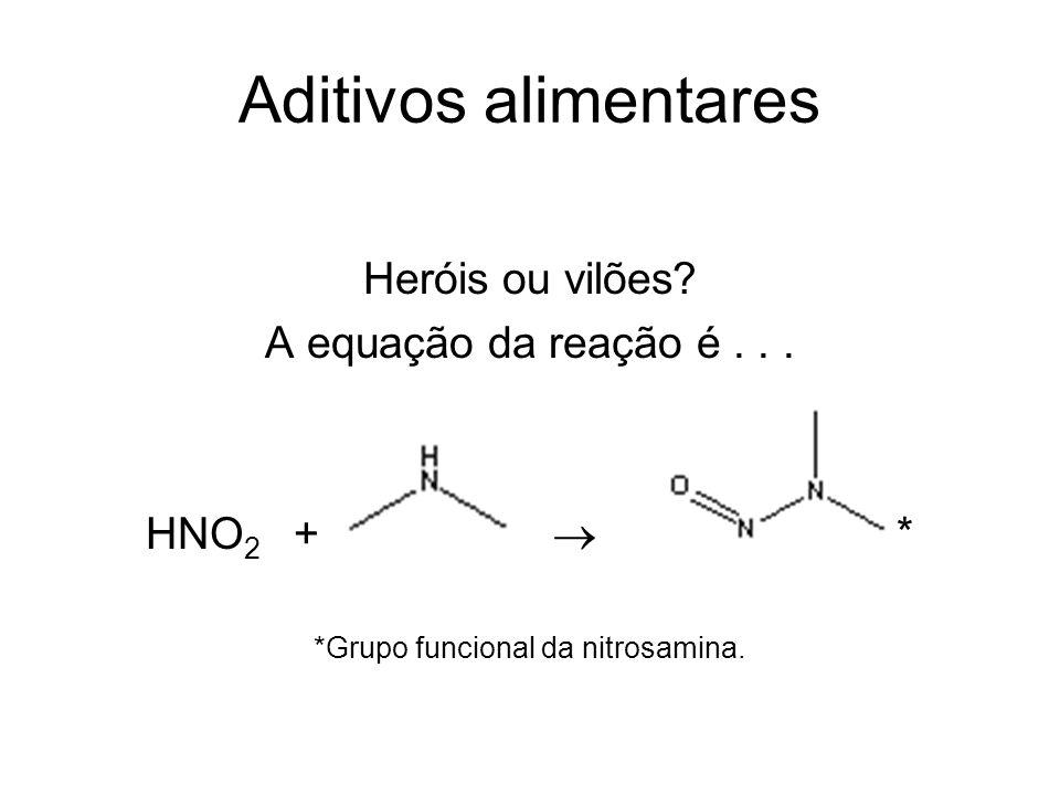 *Grupo funcional da nitrosamina.