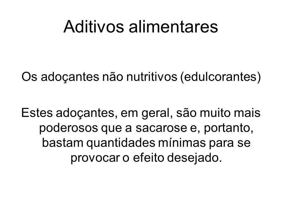 Os adoçantes não nutritivos (edulcorantes)