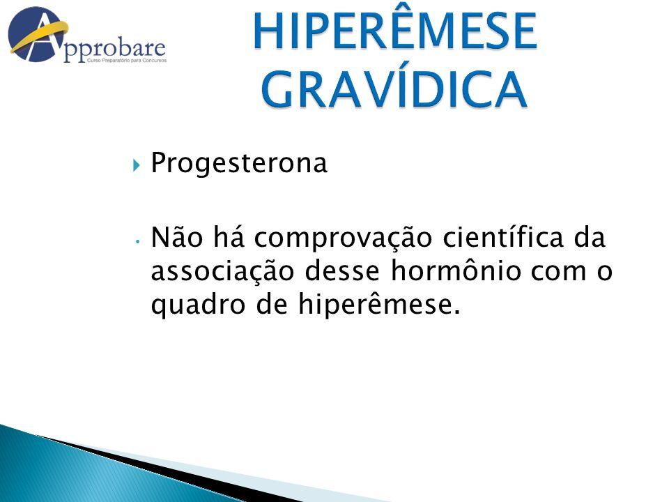 HIPERÊMESE GRAVÍDICA Progesterona