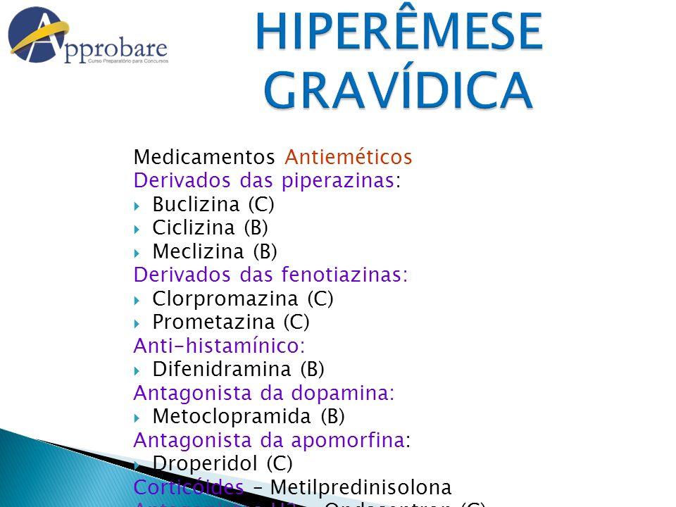 HIPERÊMESE GRAVÍDICA Medicamentos Antieméticos