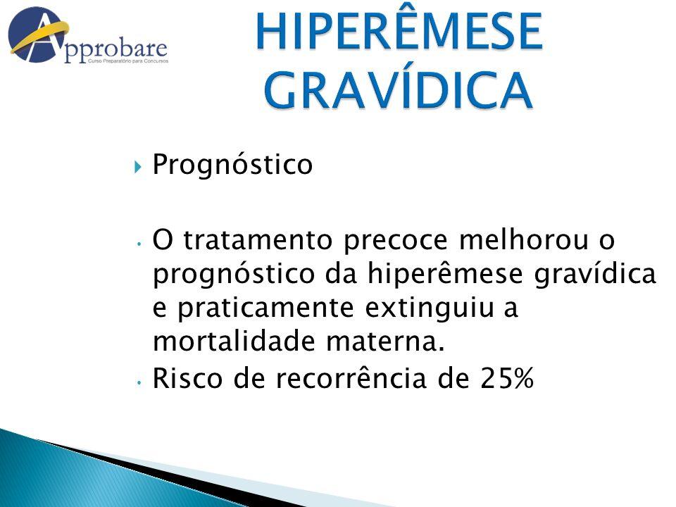HIPERÊMESE GRAVÍDICA Prognóstico