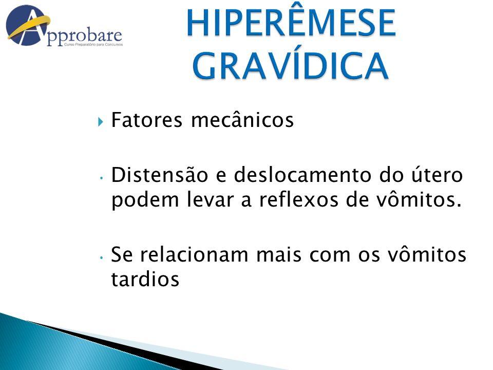 HIPERÊMESE GRAVÍDICA Fatores mecânicos