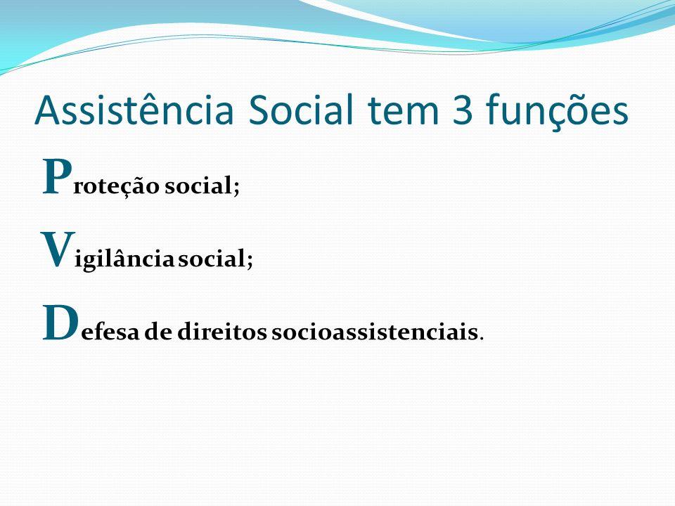 Assistência Social tem 3 funções