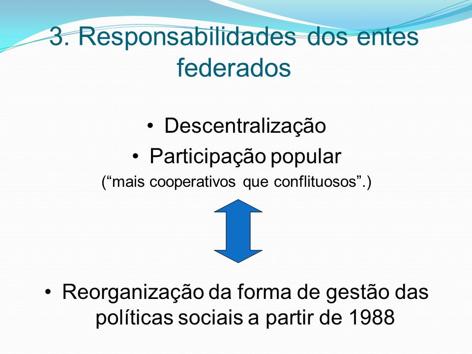 3. Responsabilidades dos entes federados