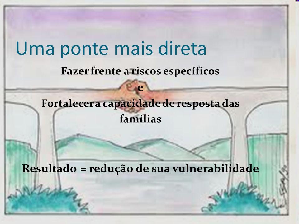 Uma ponte mais direta e Resultado = redução de sua vulnerabilidade