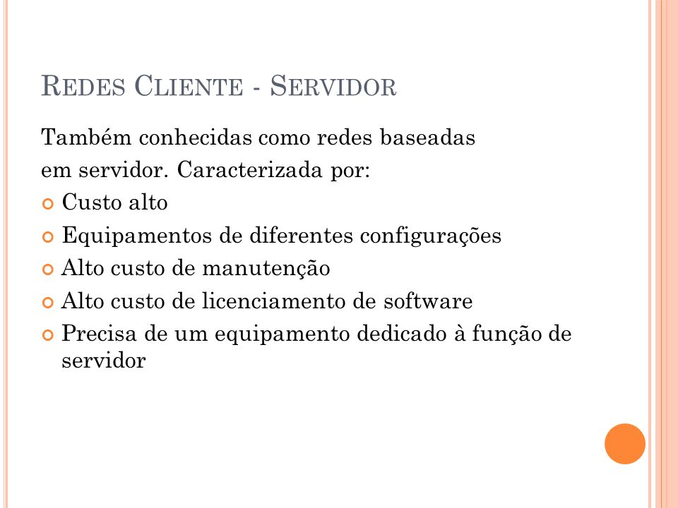 Redes Cliente - Servidor