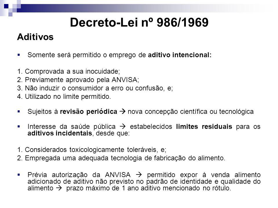 Decreto-Lei nº 986/1969 Aditivos