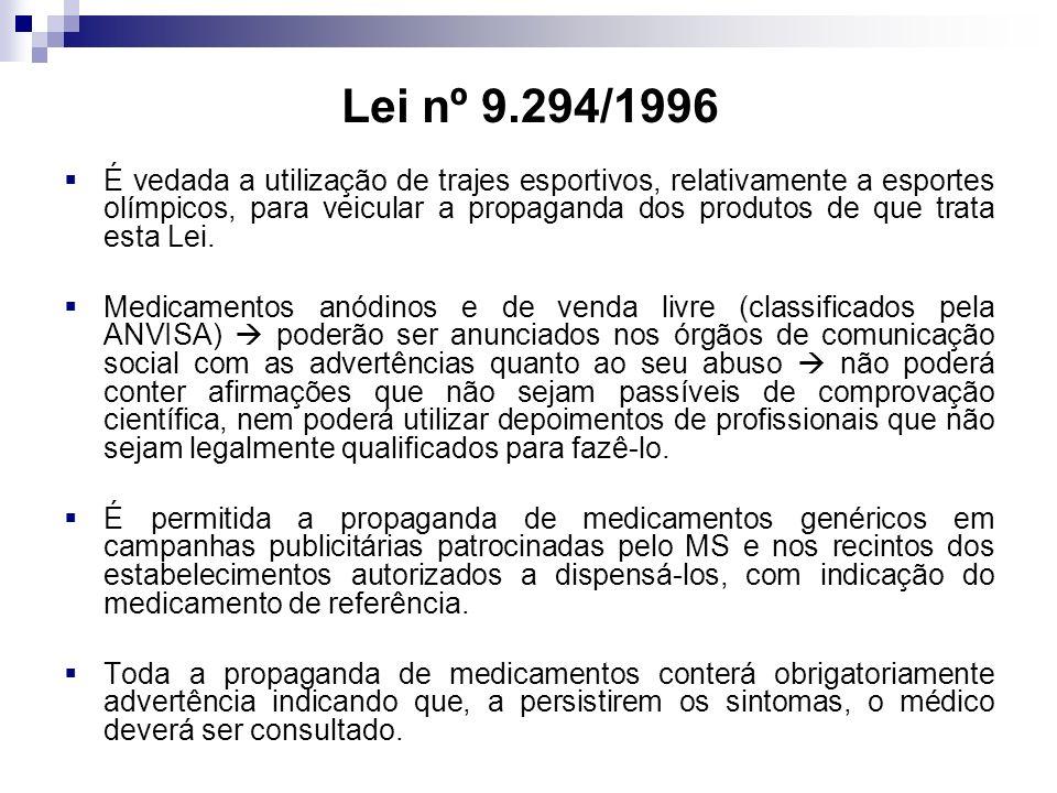 Lei nº 9.294/1996