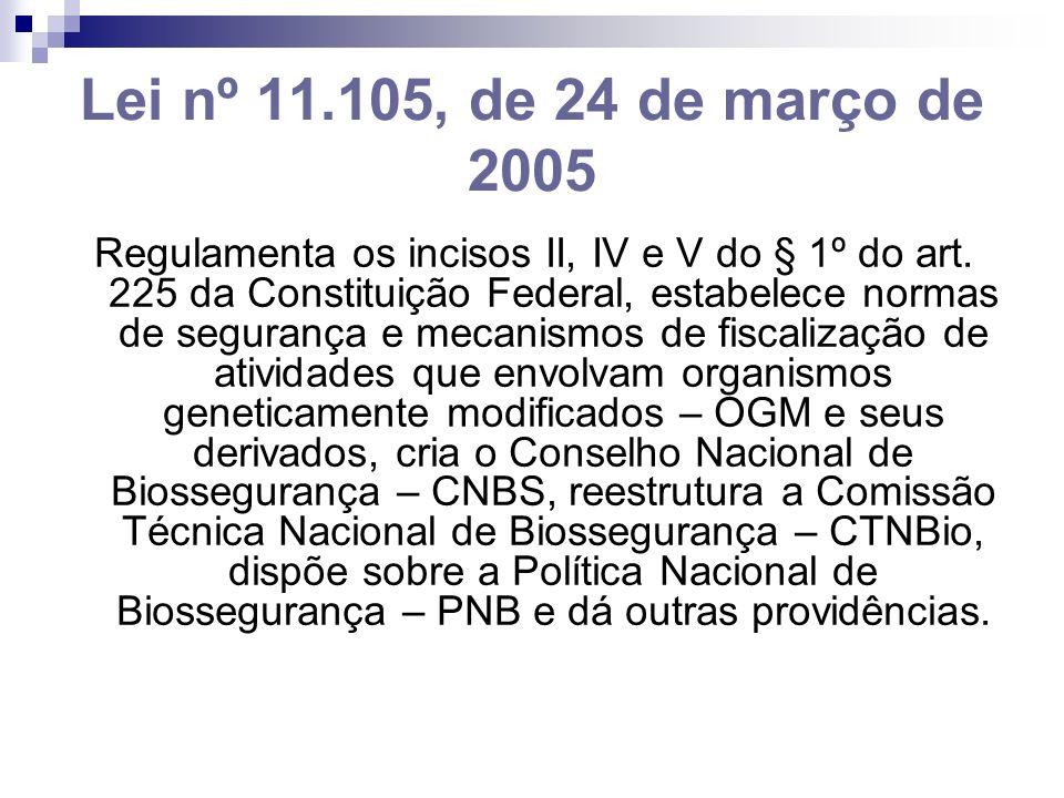 Lei nº 11.105, de 24 de março de 2005