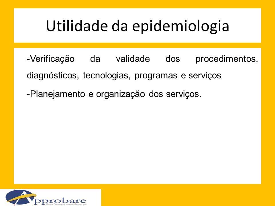 Utilidade da epidemiologia