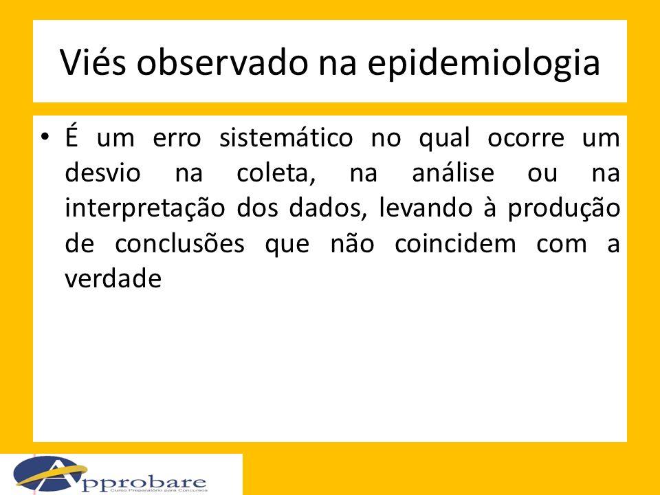 Viés observado na epidemiologia