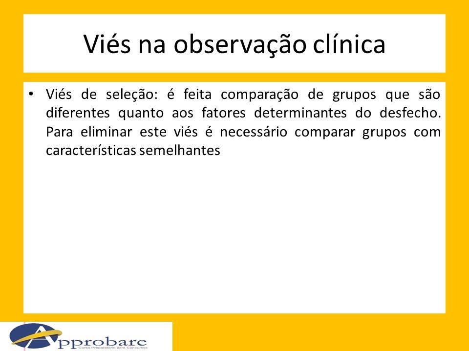 Viés na observação clínica
