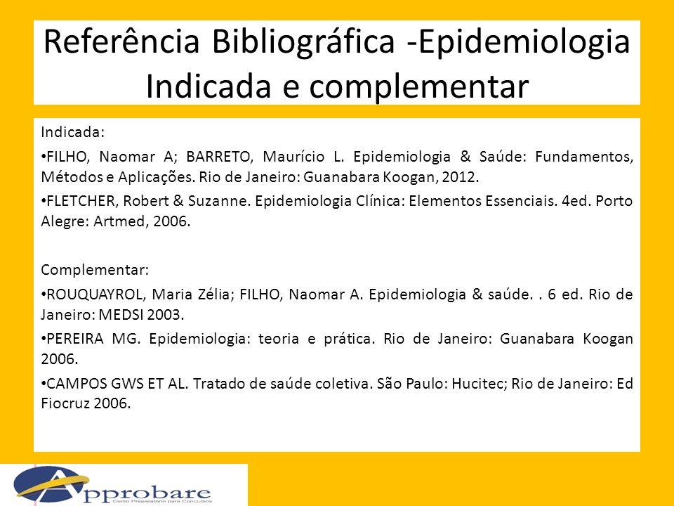 Referência Bibliográfica -Epidemiologia Indicada e complementar