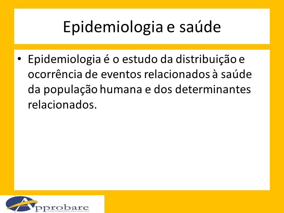 Epidemiologia e saúde