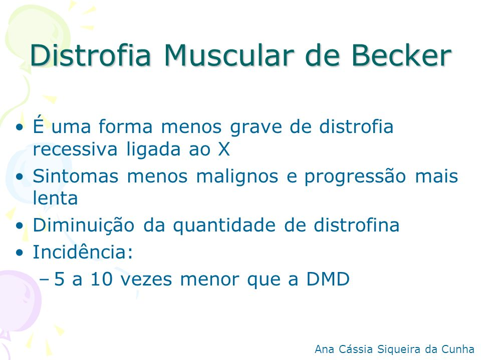 Distrofia Muscular de Becker
