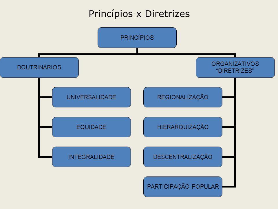 Princípios x Diretrizes