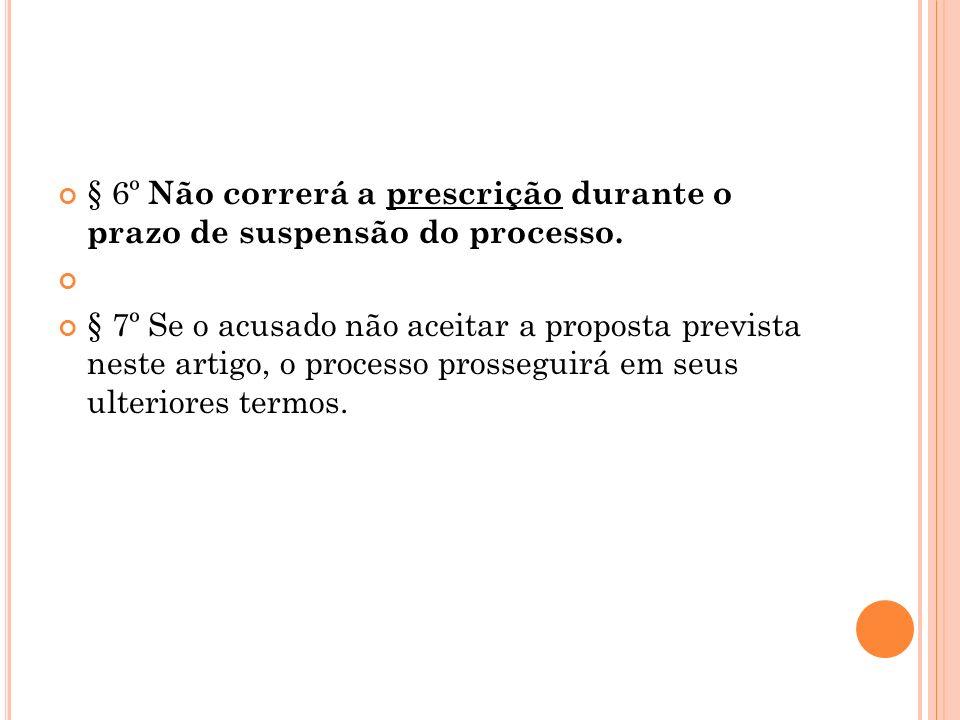§ 6º Não correrá a prescrição durante o prazo de suspensão do processo.