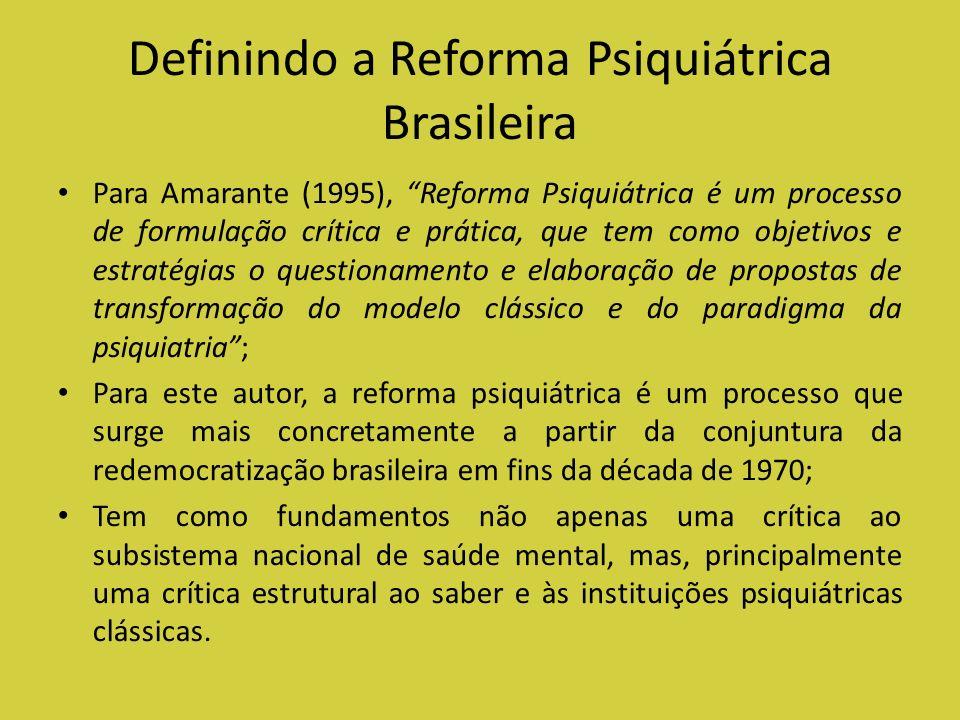 Definindo a Reforma Psiquiátrica Brasileira