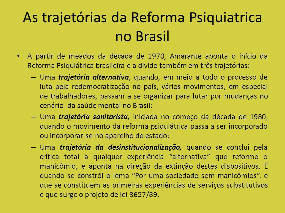As trajetórias da Reforma Psiquiatrica no Brasil