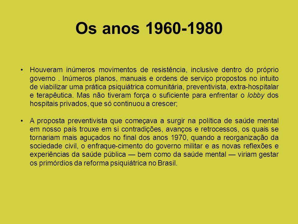 Os anos 1960-1980