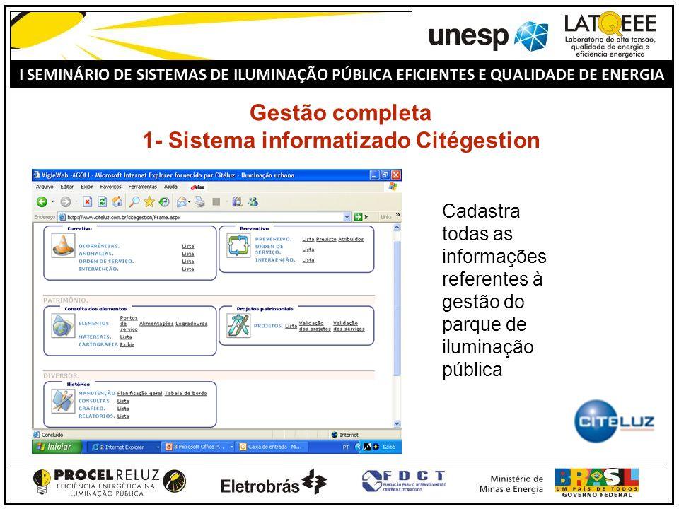 Gestão completa 1- Sistema informatizado Citégestion