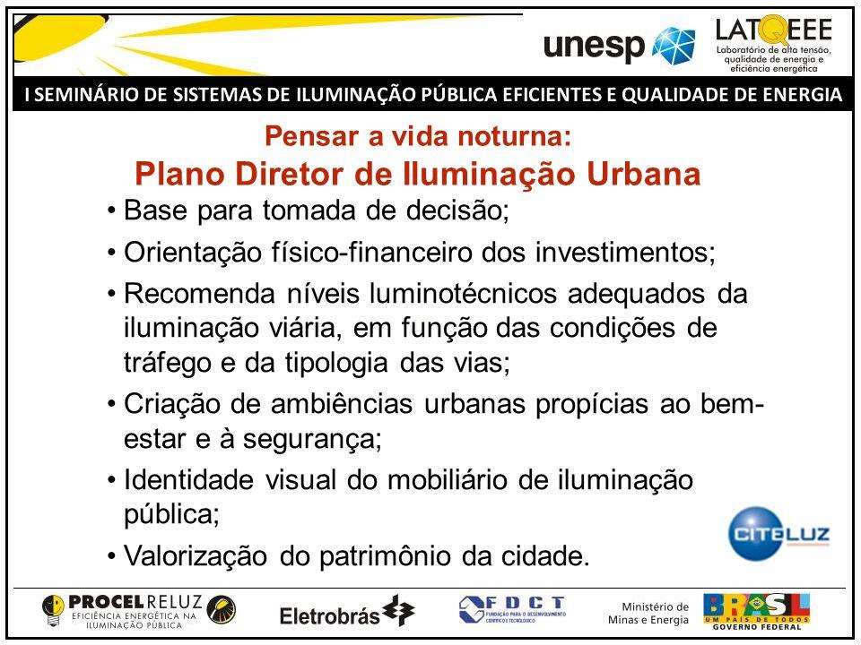 Pensar a vida noturna: Plano Diretor de Iluminação Urbana