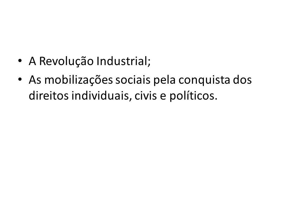 A Revolução Industrial;
