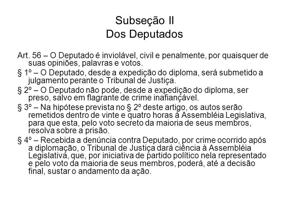 Subseção II Dos Deputados