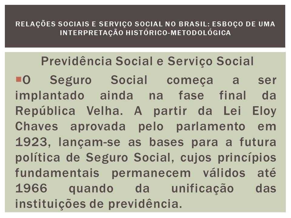 Previdência Social e Serviço Social