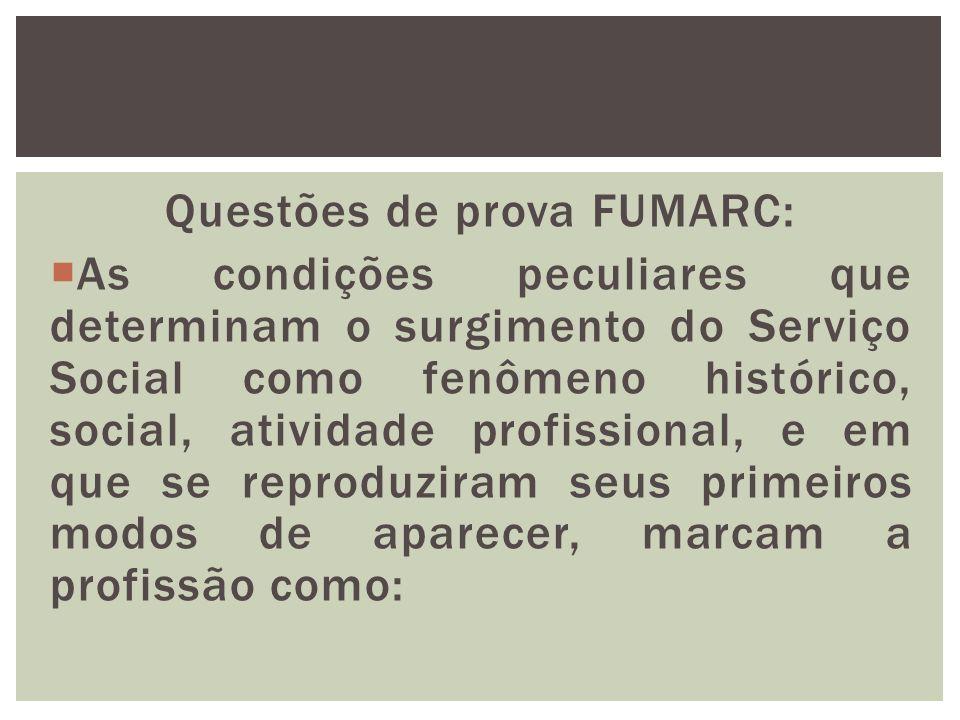 Questões de prova FUMARC: