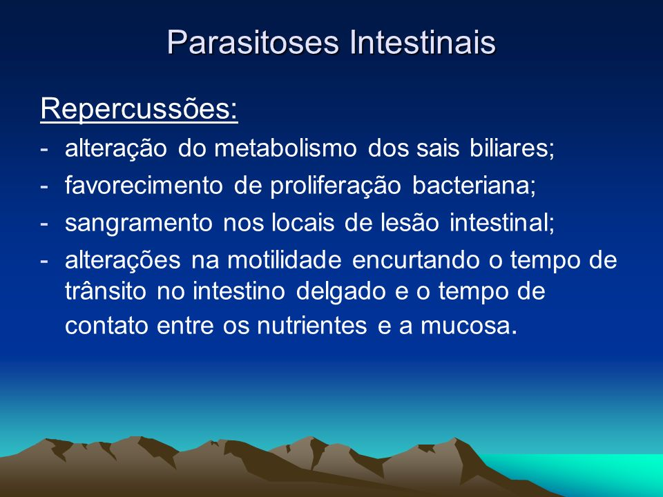 Parasitoses Intestinais