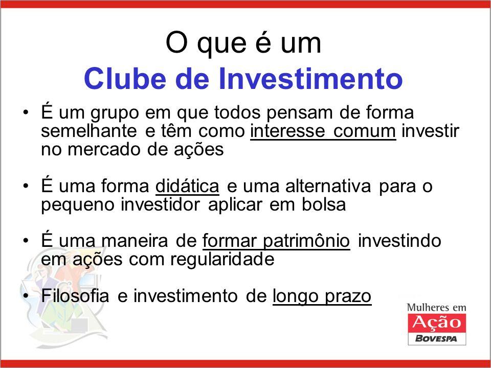 O que é um Clube de Investimento