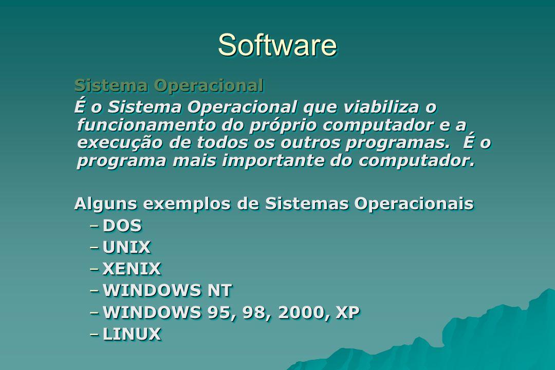 Software Sistema Operacional