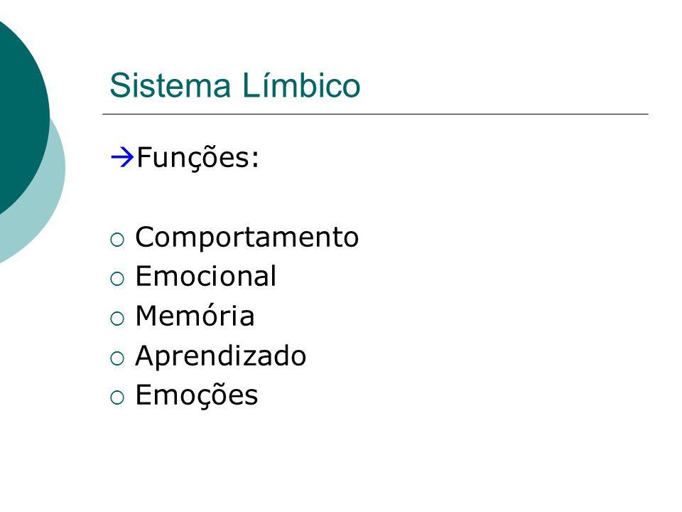 Sistema Límbico Funções: Comportamento Emocional Memória Aprendizado