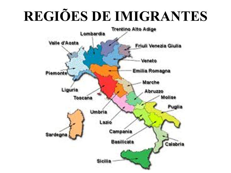 REGIÕES DE IMIGRANTES