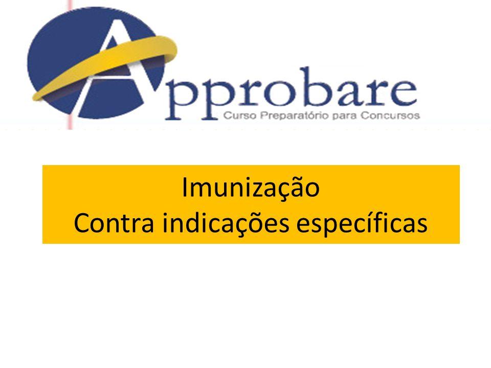 Imunização Contra indicações específicas
