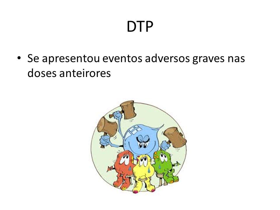 DTP Se apresentou eventos adversos graves nas doses anteirores 41
