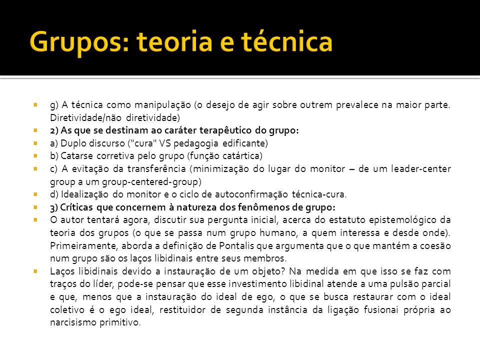 Grupos: teoria e técnica