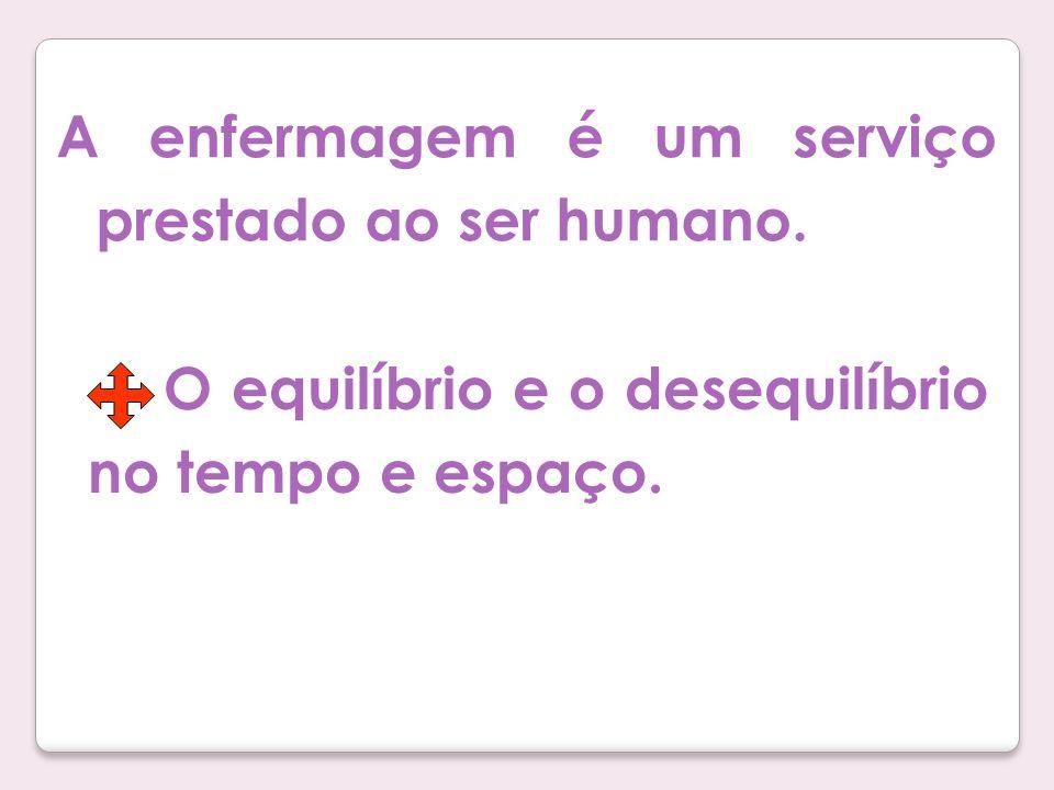 A enfermagem é um serviço prestado ao ser humano.