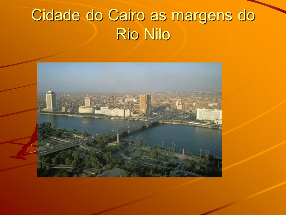 Cidade do Cairo as margens do Rio Nilo