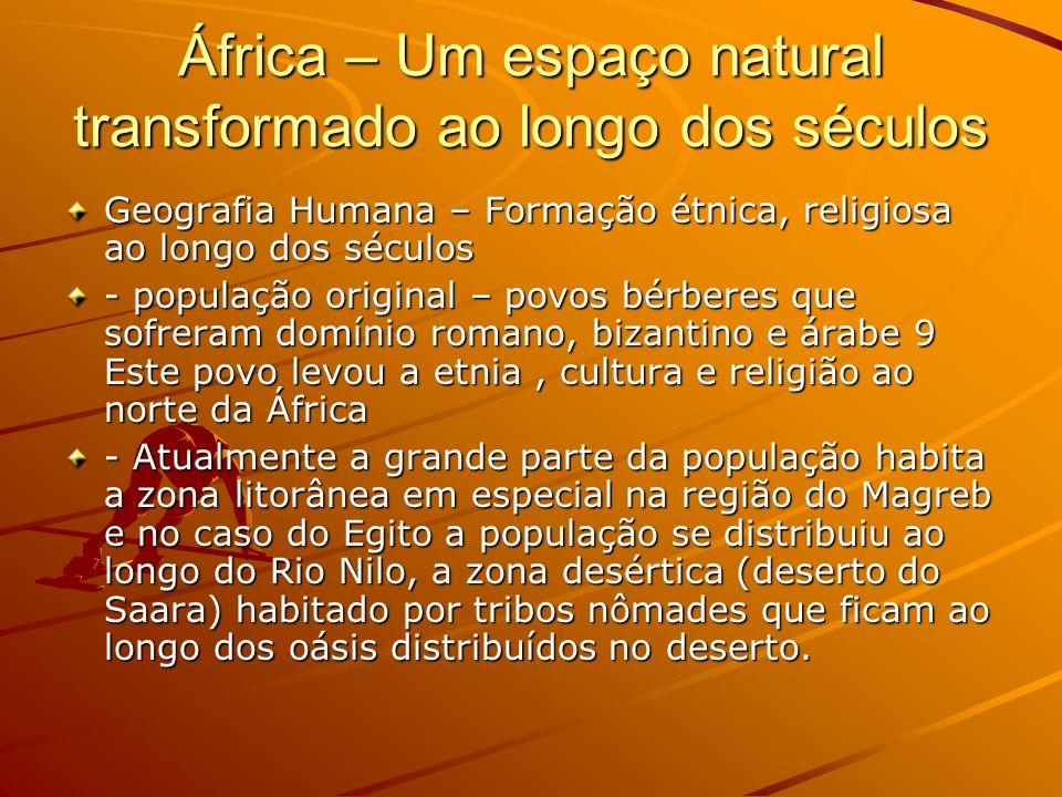 África – Um espaço natural transformado ao longo dos séculos
