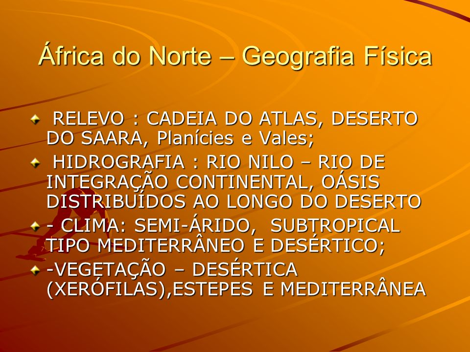 África do Norte – Geografia Física