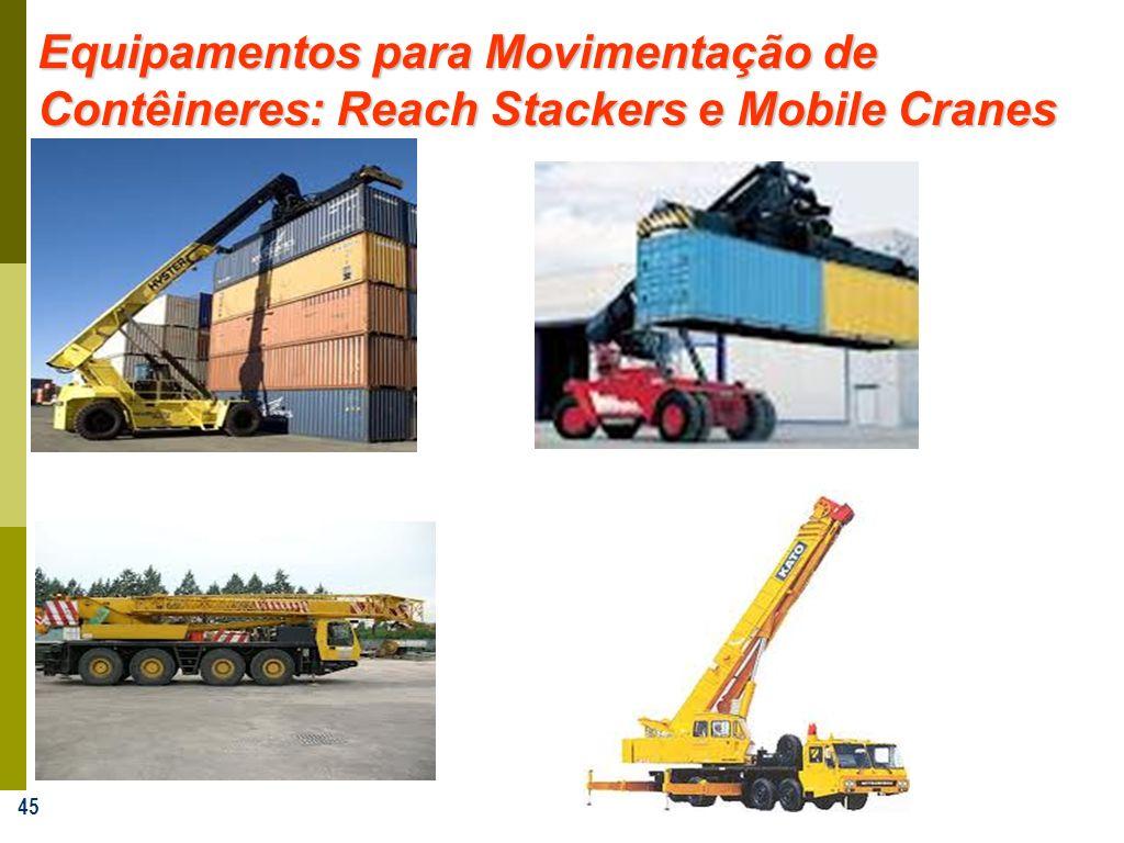 Equipamentos para Movimentação de Contêineres: Reach Stackers e Mobile Cranes