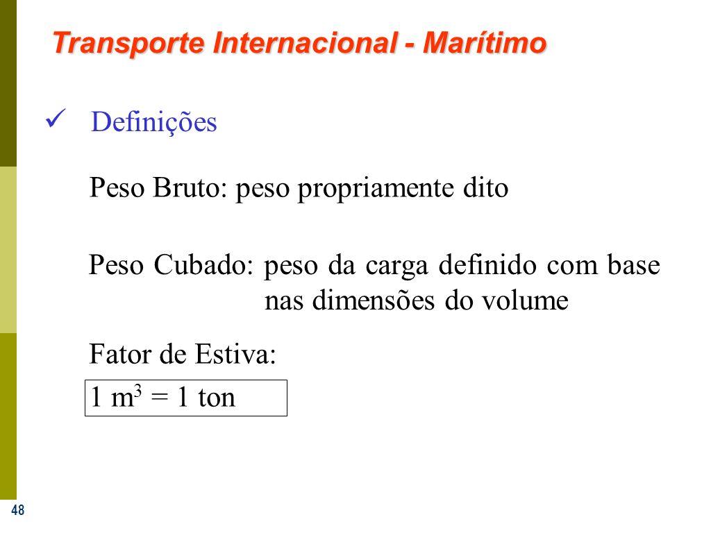 Transporte Internacional - Marítimo